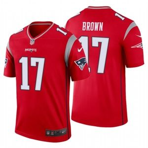 Men Antonio Brown #17 New England Patriots Jersey
